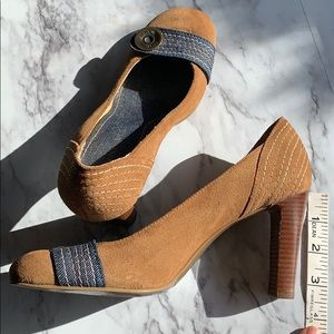 Gianni Bini | suede and jean | size 6 1/2 | EUC